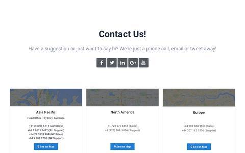 Screenshot of Contact Page jobadder.com - Contact | JobAdder - captured June 14, 2019