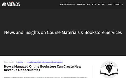 Screenshot of Blog akademos.com - Blog - Online Bookstore & Course Materials Provider - captured Nov. 16, 2019