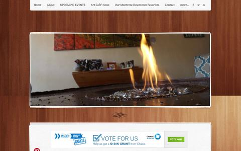 Screenshot of About Page weebly.com - About - A+Y Design GalleryDowntown Gelato at A+Y - captured Sept. 17, 2014