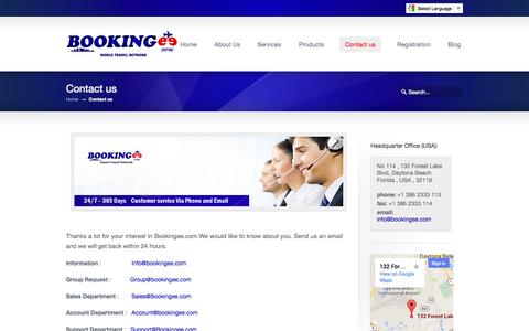 Screenshot of Contact Page bookingee.com - Contact us «  Bookingee.com Online B2B flight Booking ,Online B2B Hotel Booking - captured Oct. 5, 2014