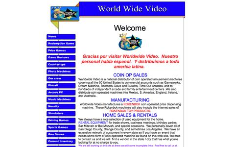 Screenshot of Home Page worldwidevideo.biz - Home Page: World Wide Video - captured June 1, 2016