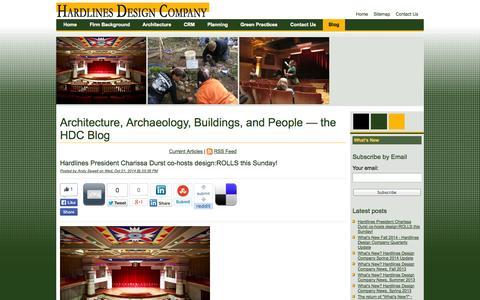 Screenshot of Blog hardlinesdesign.com - Blog, Hardlines Design Company - captured Oct. 2, 2014