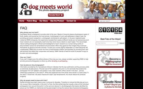 Screenshot of FAQ Page dogmeetsworld.org - FAQ «  Dog Meets World - captured Oct. 5, 2014