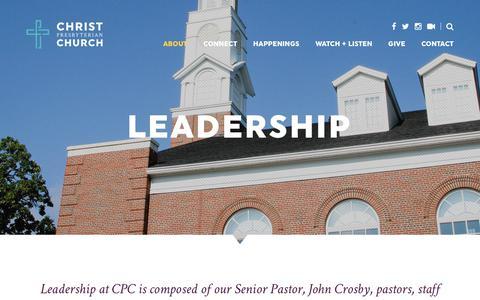 Screenshot of Team Page cpconline.org - Leadership - Christ Presbyterian Church - captured Sept. 28, 2018