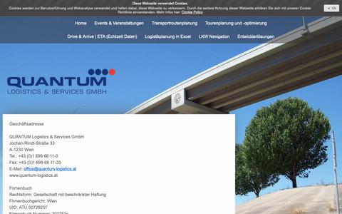 Screenshot of About Page quantum-logistics.at - Impressum - quantum-logisticss Webseite! - captured Sept. 29, 2018
