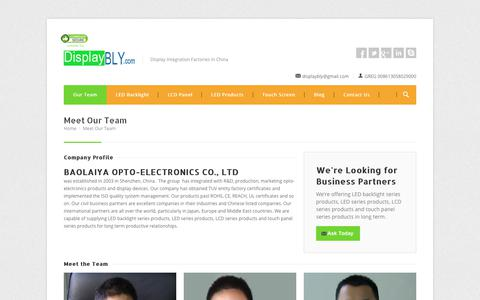 Screenshot of Team Page displaybly.com - : Meet Our Team - captured Sept. 24, 2017