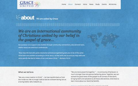 Screenshot of About Page graceunited.org - About | Grace United - captured Oct. 3, 2014