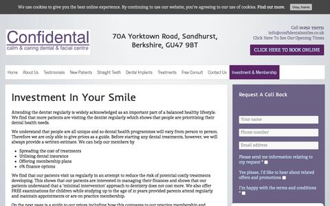 Screenshot of Pricing Page confidentalsmiles.co.uk - Smile Guide  Cosmetic Dentist Berkshire   Confidental Smiles, GU47 - captured July 21, 2018