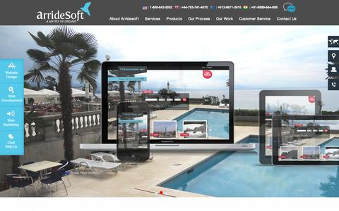Screenshot of Home Page arridesoft.com - SEO Company India, Web Development, Web Designing, Graphics Design- ArrideSoft - captured Sept. 5, 2015