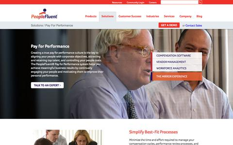 Pay for Performance System | PeopleFluent