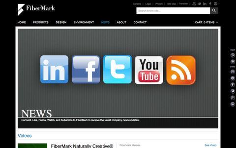 Screenshot of Press Page fibermark.com - News | FiberMark - captured Aug. 2, 2015