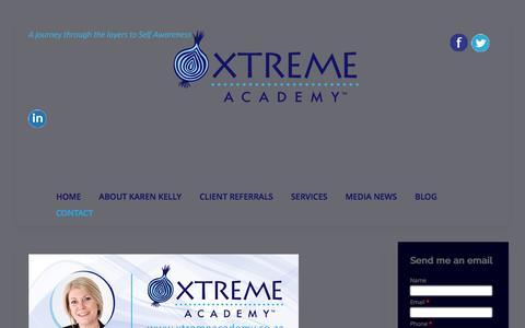 Screenshot of Contact Page xtremeacademy.co.za - Contact Karen Kelly - captured Nov. 28, 2016
