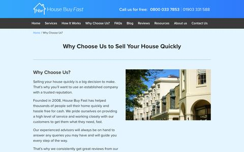 Why Choose Us? | House Buy Fast