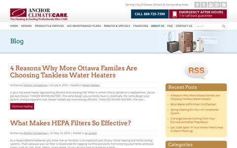 Screenshot of Blog anchorclimatecare.com - Blog - Anchor ClimateCare - captured July 30, 2018