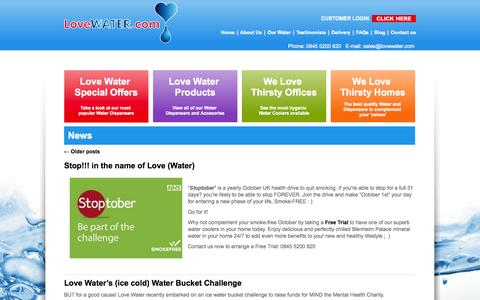 Screenshot of Press Page lovewater.com - News Archives - Love Water - captured Oct. 3, 2014