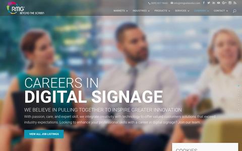 Screenshot of Jobs Page rmgnetworks.com - Careers | RMG Networks - captured Dec. 10, 2016