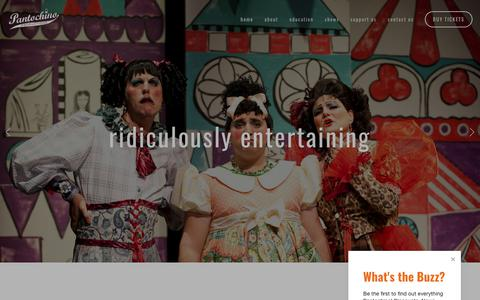 Screenshot of Home Page pantochino.com - Pantochino Productions Inc. - captured Sept. 26, 2018