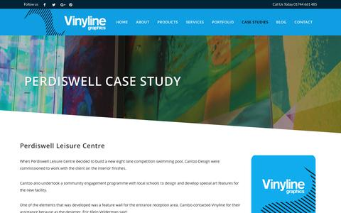 Screenshot of Case Studies Page vinyline.co.uk - Perdiswell Case Study - captured Aug. 8, 2017