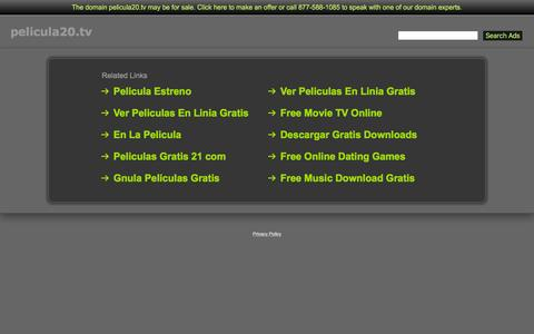 Screenshot of Home Page pelicula20.tv - Pelicula20.tv - captured Aug. 28, 2016