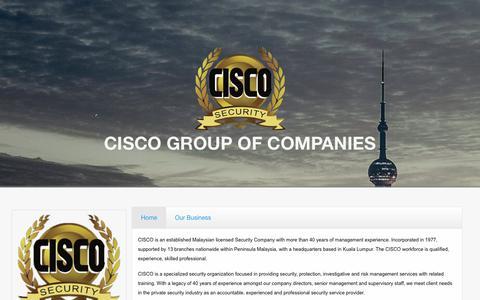 Screenshot of ciscosecurity.com - CISCO GROUP OF COMPANIES - captured Sept. 28, 2018