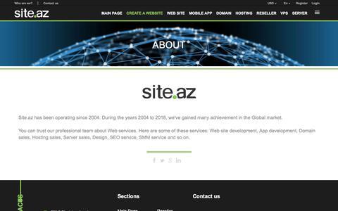 Screenshot of About Page site.az - Site.az -  | Website Development | Hosting services | Reseller services | Domain registration - captured June 28, 2018