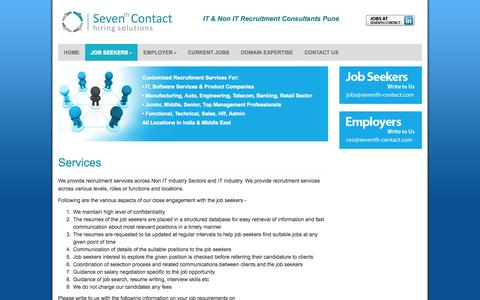 Screenshot of Services Page seventhcontact.com - Seventh Contact - captured Nov. 3, 2014