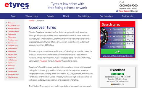 Cheap Goodyear tyres : With Free Mobile Fitting - etyres