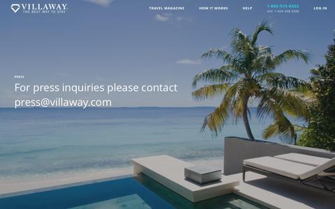 Screenshot of Press Page villaway.com - VILLAWAY - captured Dec. 3, 2016