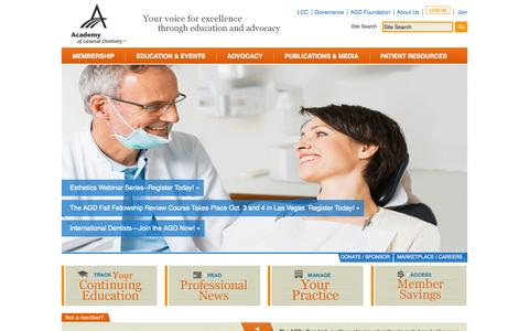 Academy of General Dentistry Home | Academy of General Dentistry