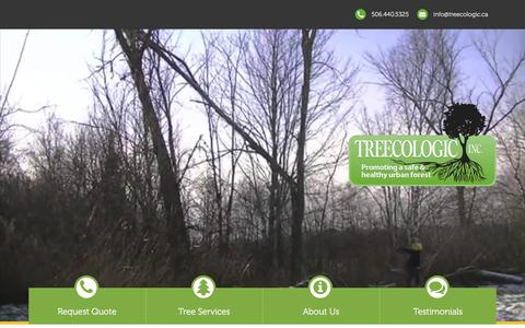 Screenshot of Home Page treecologic.ca - Treecologic Tree Services - captured Feb. 24, 2016