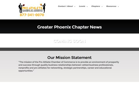 Screenshot of Press Page paccchamber.com - Greater Phoenix Chapter News - PACC - captured Nov. 2, 2014