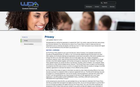 Screenshot of Privacy Page wda.com - Privacy || WDA - captured Oct. 7, 2014