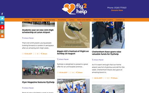 Screenshot of Press Page fly2help.org - fly2help |   News - captured June 6, 2017