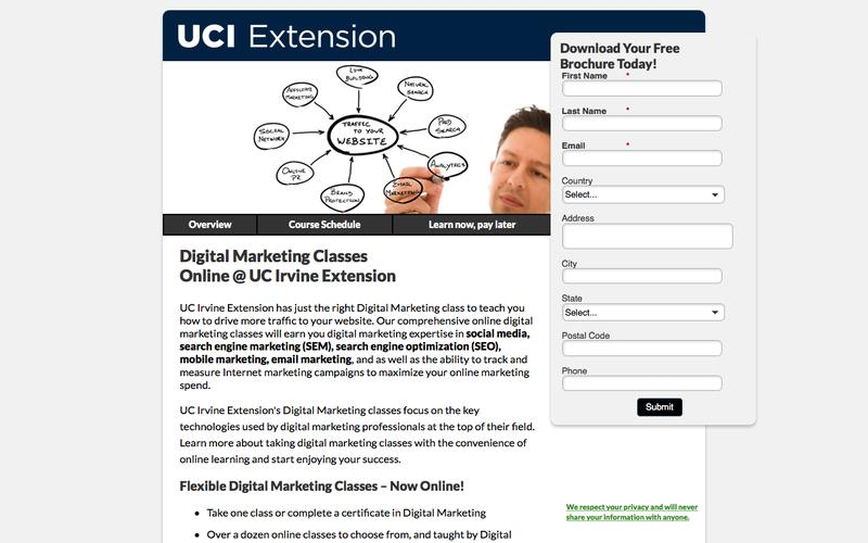 UC Irvine Extension Internet Marketing Programs
