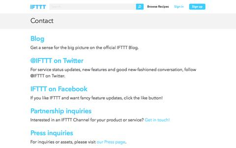 Contact our Team - IFTTT