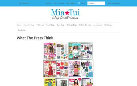 Screenshot of Press Page miatui.com - What The Press Think | MiaTui - captured Jan. 10, 2016
