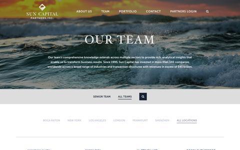 Screenshot of Team Page suncappart.com - Our Team   Sun Capital Partners - captured June 24, 2017