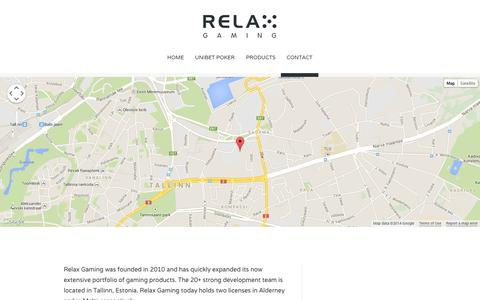 Screenshot of Contact Page relax-gaming.com - contact - Relax Gaming Ltd. - captured Oct. 6, 2014