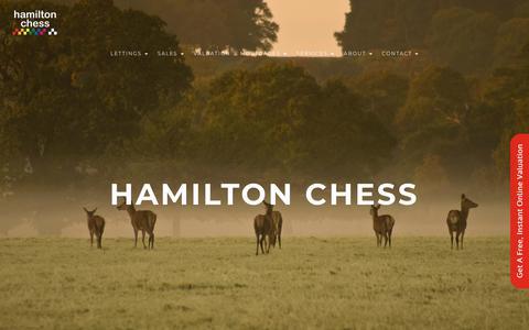 Screenshot of Home Page hamiltonchess.co.uk - Hamilton Chess (Windsor) UK – Berkshire Estate Agents - captured Nov. 4, 2018