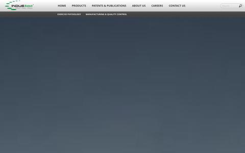Screenshot of Products Page indusbiotech.com - Indus Biotech - captured Oct. 6, 2014