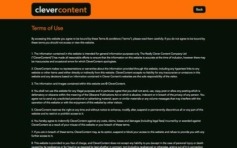 Screenshot of Terms Page clever-content.co.uk - Clever Content - Terms of Use - captured Sept. 30, 2014