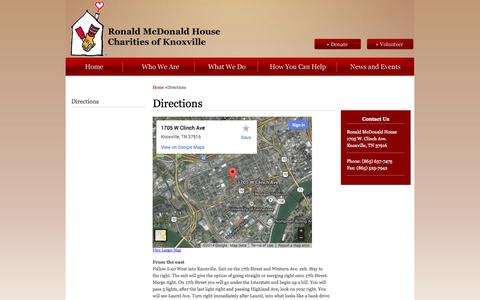 Screenshot of Maps & Directions Page knoxrmhc.org - Directions - captured Oct. 6, 2014