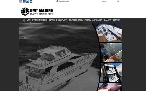 Screenshot of About Page umtmarine.com - In Marine Product Manufacturing UMT International has Created A Unique and Outstanding Product Reputation Within the Industry - captured Dec. 20, 2015