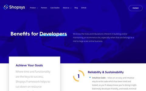Screenshot of Developers Page shopsys.com - For Developers – Shopsys - captured July 7, 2018