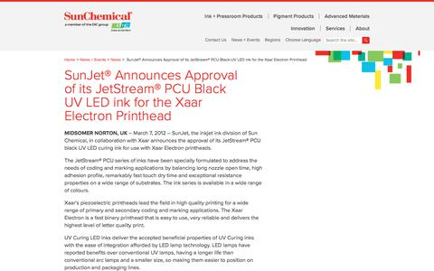 SunJet® Announces Approval of its JetStream® PCU Black UV LED ink for the Xaar Electron Printhead