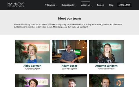 Meet the Team | Mainstay Technologies Cybersecurity and IT Services