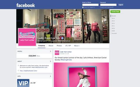Screenshot of Facebook Page facebook.com - Lady Foot Locker | Facebook - captured Nov. 4, 2014