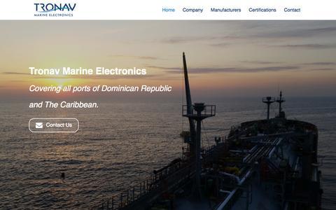 Screenshot of Home Page tronav.com - Tronav Marine Electronics - captured Aug. 17, 2015