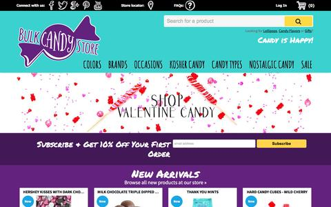 Screenshot of Home Page bulkcandystore.com - Bulk Candy Store - Home of the Best Candy Variety & Prices Online | Bulk Candy Store - captured Jan. 7, 2016