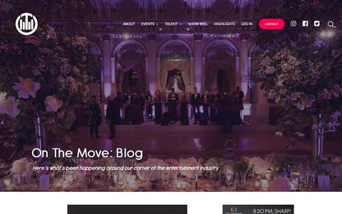 Screenshot of Blog onthemove.com - Blog | On The Move Events & Entertainment - captured Oct. 18, 2018